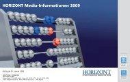 HORIZONT Media-Informationen 2009 - Isler Annoncen AG