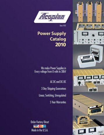 Acopian Power Supplies - Made in USA - Ships in 3 ... - Mercado-ideal
