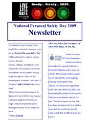 National Personal Safety Day 2009 newsletter - Suzy Lamplugh Trust