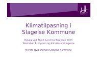 Klimatilpasning i Slagelse Kommune S age se o u e