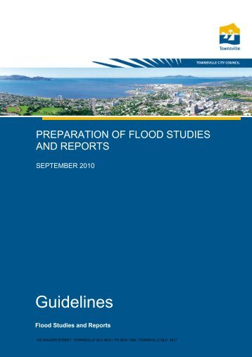 Flood Study Guideline Document - Townsville City Council