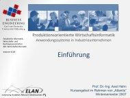 Produktionsplanung- und Steuerung - Universität Oldenburg