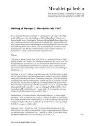 Uddrag af George C. Marshalls tale på Harvard. - Museum Midtjylland