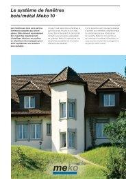 Prospectus des produits (pdf, 514 KB) - Schweizer Metallbau