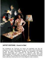 Artist Editions® Top Art™ Collection - Kohler