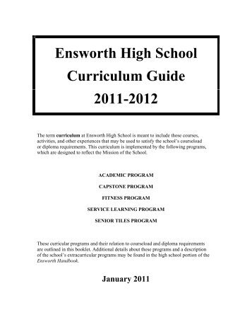 Ensworth High School Curriculum Guide 2011-2012