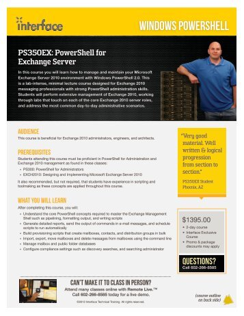 Download Course PDF - Interface Technical Training