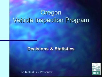 Decisions & Statistics - OBD Clearinghouse