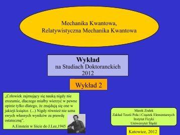 Wykład 2 - Uniwersytet Śląski