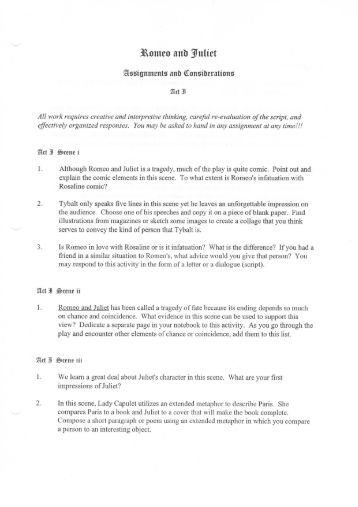 romeo and juliet act iv reading and study guide