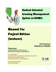 Manual For Project Advisor (Lecturer) - Politeknik Kota Bharu