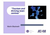 """""""Tourism and thriving town centres"""" - Harold Goodwin"""