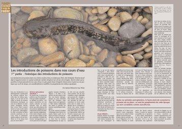 les introductions de poissons dans nos cours d'eau