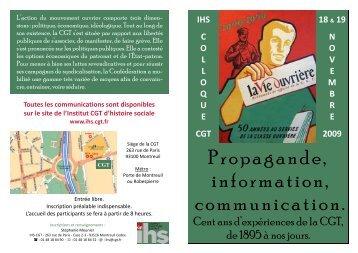INVITATION DEFINITIVE - Institut d'Histoire Sociale CGT