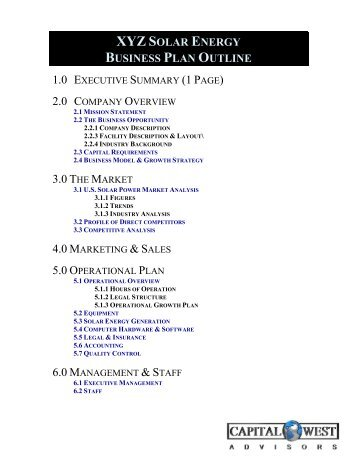 View A Sample Biotech Business Plan Outline Capital West Advisors - Biotech business plan template