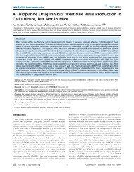 A Thiopurine Drug Inhibits West Nile Virus ... - ResearchGate