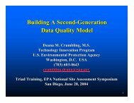 Building A Second-Generation Data Quality Model