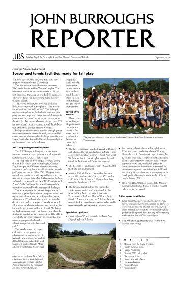 September 2010 - John Burroughs School