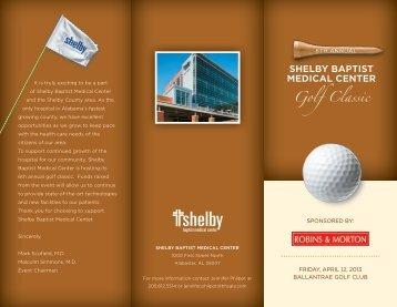SHELBY BAPTIST MEDICAL CENTER Golf Classic - Baptist Health ...