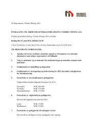 Til aksjonærene i Nordic Mining ASA INNKALLING TIL ... - Cision