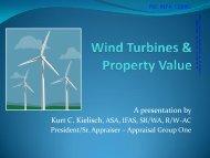 Wind Turbines & Property Value - Acoustic Ecology