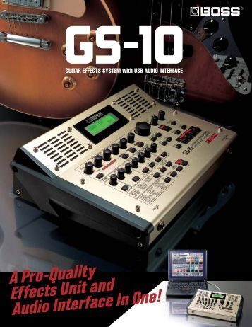GUITAR EFFECTS SYSTEM With USB AUDIO INTERFACE - Roland