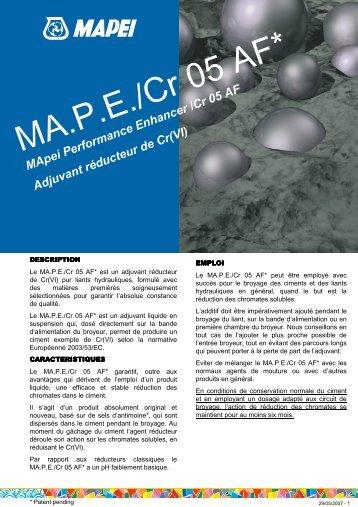 MA.P.E./Cr 05 AF* - Mapei