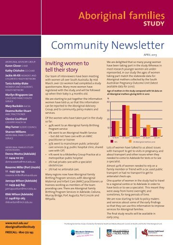 Community Newsletter April 2013