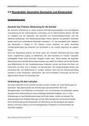 Stundenbild: Symmetrie und Körperarbeit - Staatliche ...