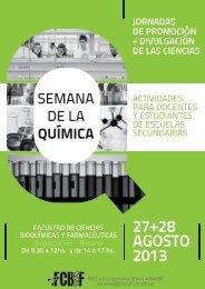 27+28 AGOSTO 2013 - Facultad de Ciencias Bioquímicas y ...