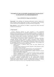 Wykorzystanie systemów ekspertowych do oceny ... - PTZP