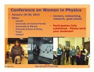 Physics Curriculum in the 21st Century - American Association of ...