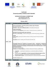 Programul conferinţei în format PDF - Progenies