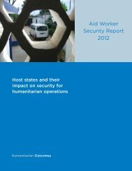 Aid Worker Security Report 2012 - Humanitarian Outcomes