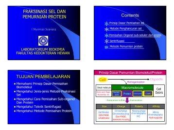 Matakuliah Fraksinasi dan Purifikasi protein
