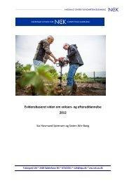 Evidensbaseret viden om voksen- og efteruddannelse 2012