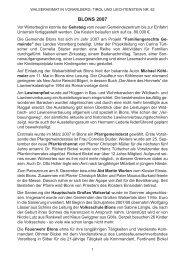 Chronik der Gemeinde Blons für das Jahr 2007 - Vorarlberger ...