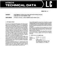 Lli - Hitachi High Technologies America, Inc