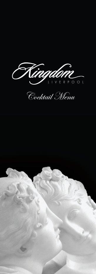 Cocktail Menu - Kingdom Liverpool