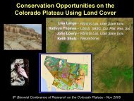 Conservation Opportunities on the Colorado Plateau Using Land ...