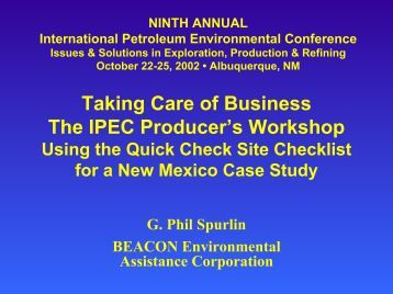 """""""Taking Care of Business"""" - The IPEC Producer's Workshop"""