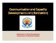 Communication and Capacity Development Unit (Sanitation)
