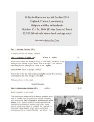 Download Complete Itinerary - Escorted D-Day, Normandy, World ...