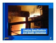 Casting Specifications and Quality Assurance - Marts-rail.org