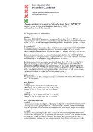 AOA'13 Vergunning - Stadsdeel Zuidoost - Gemeente Amsterdam
