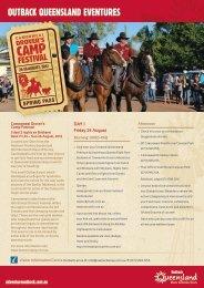 OUTBACK QUEENSLAND EVENTURES - Queensland Holidays