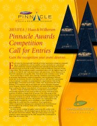 Pinnacle Brochure - International Festivals & Events Association