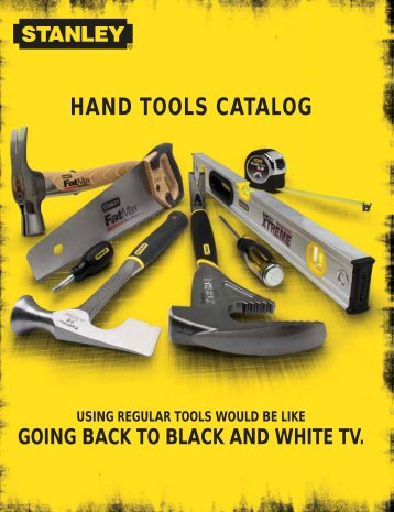 Stanley Hand Tools Catalog MKT0905_031 - stagecraft fundamentals