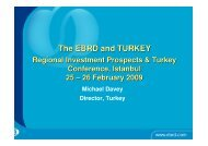 The EBRD and TURKEY