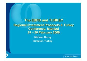 The EBRD and TURKEY